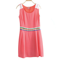 Wk48 2013 women's summer slim chiffon one-piece dress skirt