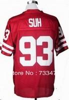 Free Shipping Cheap NCAA Nebraska Cornhuskers Ndamukong Suh #93 Red College Football Jersey Factory Directly Supply