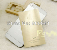 100pcs X Free Shipping Champagne Gold Skin Sticker Protector Cover for iPhone 5 5S