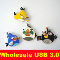 Black Avenging Birds  Pen Drive Metal Pendant Usb 3.0 Usb Flash Drive 32gb 4gb Cartoon16gb Christmas Gift Rilakkuma Jewelry