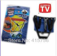 Free shipping 30pcs Amazing pocket chair portable folding mini folding stool