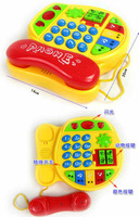 Free shipping educational early learning Multifunctional aimy animal phone piano color animal multi-purpose music phone toy