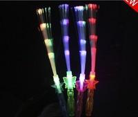 free shipping flashing fiber optic wand light stick led foam fiber optic lamp outdoor toys novelty items