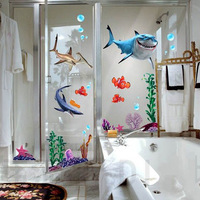 New 2013 Seabed General Mobilization Cartoon Nemo Wall Stickers Home Decor Let your bathroom Vivid