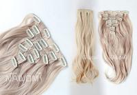 New Arrival Product 2013 Cheap Curl ,55cm Blond Natural Hair,7pcs/set, Kanekalon Free Shipping