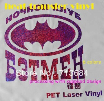 PET laser  vinyl Heat Transfer Vinyl Design Logo Custom For Iron ON Heat Press Print T-shirt