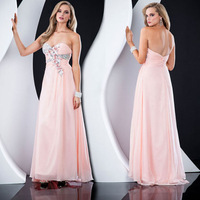 free shipping 2014 new evening dresses quality pink fashion elegant bride long formal dress costume birthday