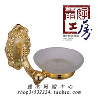 Brass padlock copper soap dish gold plated soap dish lu-606 3g