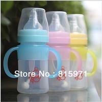 (3 pcs/lot) Silicone baby feeding bottle wide caliber 150ML soft safe baby milk powder bottle 1839
