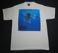 Rock nirvana band - nevermind rock t-shirt rock new 2013 metallic 40 year old virgin Seth Rogen kurt cobain