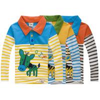 baby boy's shirt long-sleeve Children's clothing autumn cartoon 100% lovely shirt free shipping