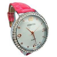 Brief classic business casual lady diamond sun pattern fashion women's watch