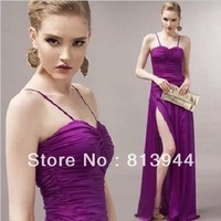 Summer Night Wedding Party split Dress for women charming bridesmaid costume Free Code Ship LF011