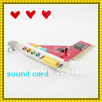 Free shipping New audio card 4 channel pci sound midi game post 3D for pc computer
