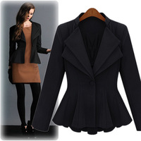 2013 New Autumn Fashion Women's Cardigans Outwear Solid Color Vintage Patchwork U-Neck Coat Lady Cotton Blended Full Sleeve Coat
