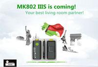 Free shipping  EMS Rikomagic MK802 IIIS Mini PC,Mobile Remote Control Android TV box RK3066Cortex A9 1GB RAM 4G ROM HDMI TF Card