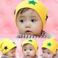 Baby Beanies hat/Kids big five-pointed star hat/lovely style earflaps comfortable crochet caps BH016