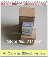 SDA 100*20 Airtac Type Thin Light Air Cyinders 100mm Bore 20mm Stroke Pneumatic Compact Air Cylinder
