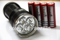 7000Lumen TINY MONSTER 6x CREE XM-L T6 LED   High Power Flashlight +4x 18650 Battery Charger  Free Shipping