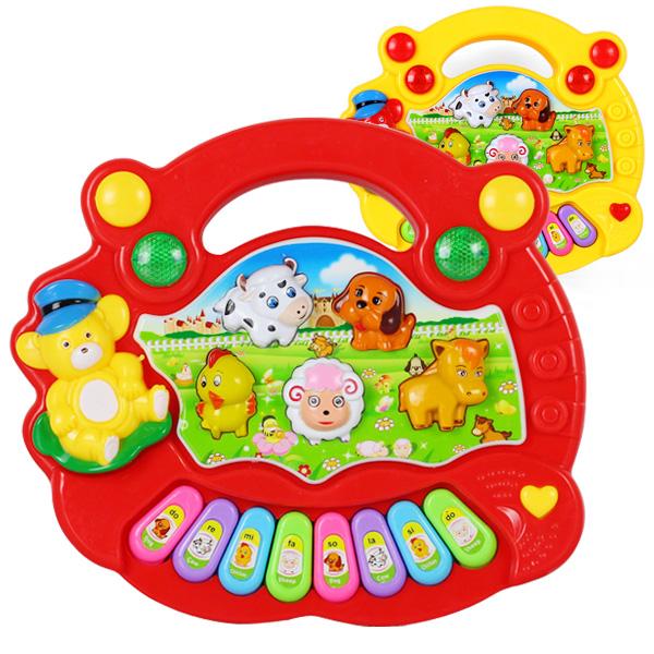 Baby Kid's toys Popular Animal Farm Piano Music Toy Electrical Keyboard Developmental Piano Toy Free Shipping(China (Mainland))