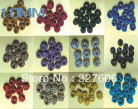 Free Shipping!!Hot Sale 10MM Mixed Color Clay Shamballa Beads 50pcs/lot AAAA Diamante Polymer Clay Rhinestone Disco Pave Beads!!