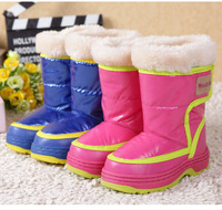 free shipping girls' winter PU boots children boy warm boots  kids' snow boots warm fur-padded thinsulate nside warm boots