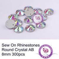 Crystal 2 holes sew on flatback Sewing Rhinestones 8mm 10mm 12mm 14mm 16mm 18mm for Handmade garment