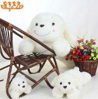 Cute cartoon smiley dog plush toys  Christmas gift  birthday gift  blush  dog doll