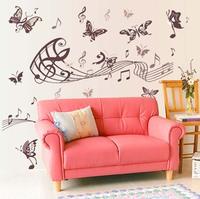 purple butterflies Wall decor decals living room murals home decorations  Vinyl art floral stickers