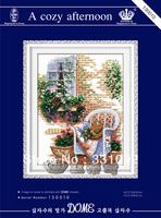 new arrived cross stitch needlework 3d print cross stitch kit A cozy afternoon Cross stitch Embroidery