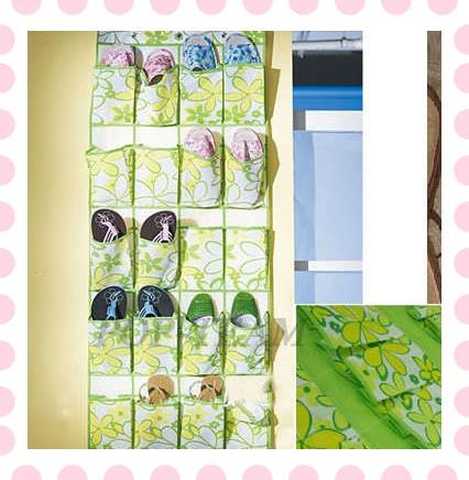 20 Pockets Shoe Organizer Rack Hanging Display Storage Bag Hanger NEW(China (Mainland))