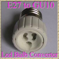 Free Shipping 50pcs/lot E27 to GU10 Bulb Base Converter High Quality LED Light Lamp Adapter Screw Socket