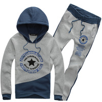 Han edition tide hooded men's  printed sportswear suits