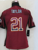 Women's American Football Jersey #21 Sean Taylor Red Drift Fashion Elite Jersey Size S-XXL Embroidery name and number