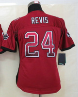 Women's American Football Jersey #24 Darrelle Revis Red Drift Fashion Elite Jersey Size S-XXL Embroidery name and number