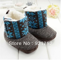 Freeshipping High Velcro baby shoes baby snow boots warm cotton shoes boots