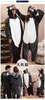 Free Shipping Unisex Adult Animal Pajamas Cosplay Costumes Nightwear Onesie Lovely Wolf Size S/M/L/XL