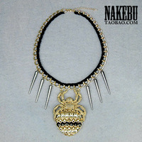 Nakebu personality spider pendant rivet fashion decoration necklace long necklace female design