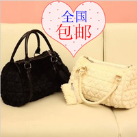 2012 women's winter handbag heart velvet bags vintage handbag cross-body women's handbag