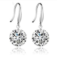 High Quality 925 Silver/Crystal Earring, Silver Earrings,925 Sliver Plated Wholesale Fashion Jewelry-JX1846