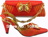 Italy shoes,Woman shoes,shoes with matching bags, Italy designs, lady's shoes,Free shipping,SB180 orange euro size40-42
