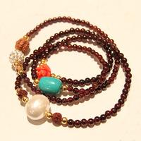 Garnet bracelet nunatak handmade beaded multi-layer bracelet female
