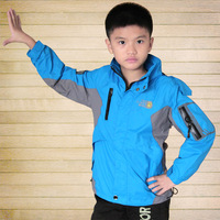 Male child outdoor jacket children's clothing male child 2013 child sports outerwear waterproof windproof sports jacket q16