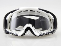 Free shipping Motorcycle Cruiser ATV Off-Road Eyewear Adult Ski Goggles Clear Lens White