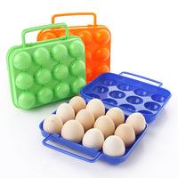 Outdoor portable plastic 12 eggs box k1399