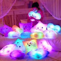 Colorful light-emitting pillow music plush toy Large dolls birthday gift girls