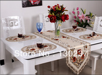 229/40cm * 246 cm / Openwork embroidered tablecloths / Table Runner triangle / piano cover cloth / tea table cloth / table flag