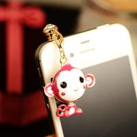 Hiphop monkey  for apple   mobile phone dust plug small pendant dust plug