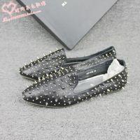 2013 ash women's shoes rivet flat single shoes sheepskin hedgehogs3 shoes casual single shoes personalized women's shoes