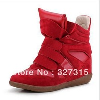 2013 New Arrival Korean mixed colors within the higher velcro high shoes casual shoes